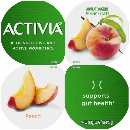 Activia Peach Lowfat Probiotic Yogurt Perspective: top