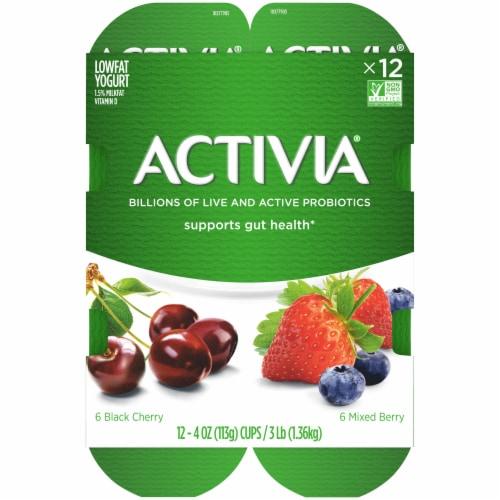 Activia® Mixed Berry & Black Cherry Lowfat Probiotic Yogurt Perspective: top