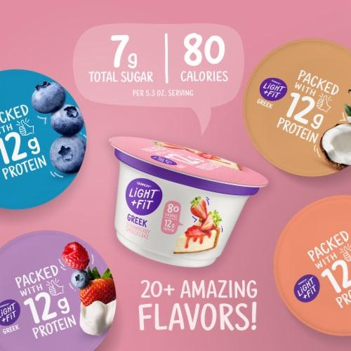 Dannon Light & Fit Original Strawberry Nonfat Greek Yogurt Perspective: top