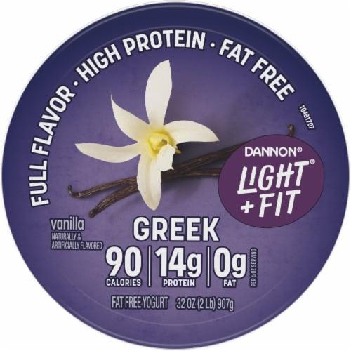 Dannon® Light & Fit Vanilla Nonfat Greek Yogurt Perspective: top