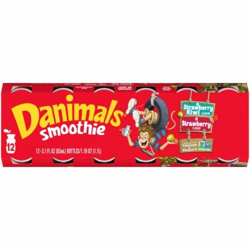 Dannon® Danimals® Strikin' Strawberry Kiwi & Strawberry Explosion Yogurt Smoothie Perspective: top