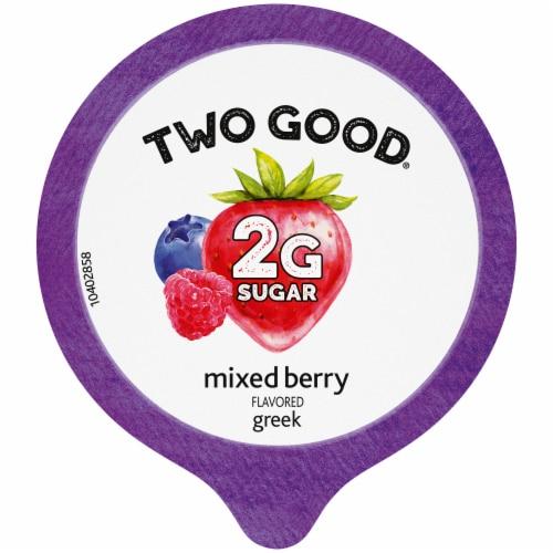 Two Good™ Mixed Berry Lowfat Greek Yogurt Perspective: top