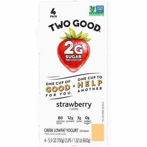 Two Good™ Strawberry Lowfat Greek Yogurt Perspective: top