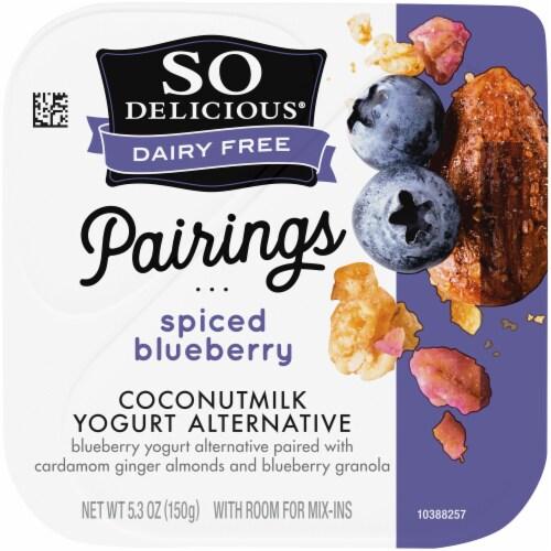 SO Delicious piced Blueberry Coconutmilk Yogurt Alternative Perspective: top