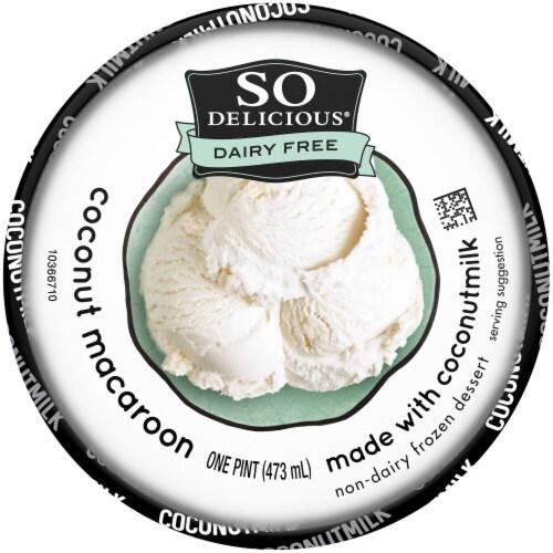 SO Delicious Dairy Free Coconut Macaroon Coconutmilk Non-Dairy Frozen Dessert Perspective: top