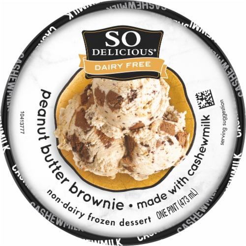 SO Delicious Peanut Butter Brownie Cashewmilk Non-Dairy Frozen Dessert Perspective: top