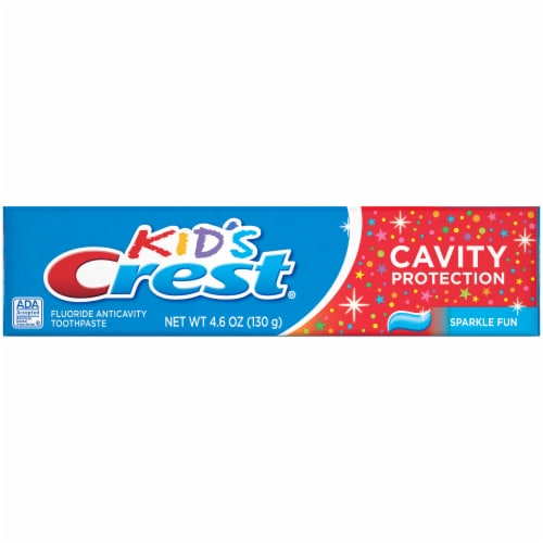 Crest Kids Cavity Protection Toothpaste Sparkle Fun Flavor Perspective: top