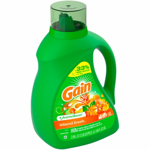 Gain Island Fresh + AromaBoost Liquid Laundry Detergent Perspective: top