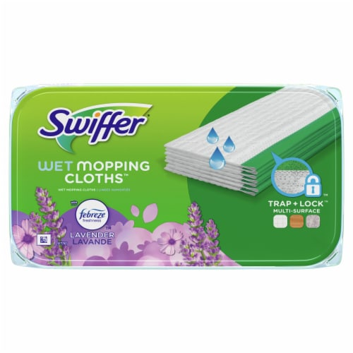 Swiffer® Sweeper with Febreze Lavender Vanilla & Comfort Wet Mopping Cloths Perspective: top