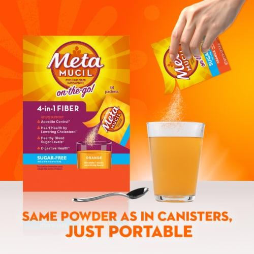 Metamucil Sugar Free Orange Smooth Fiber Powder Dietary Supplement Perspective: top
