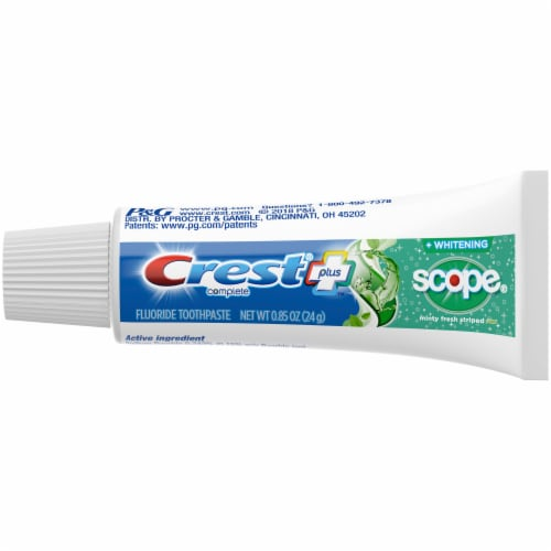 Crest Complete Whitening+Scope Minty Fresh Striped Toothpaste Perspective: top
