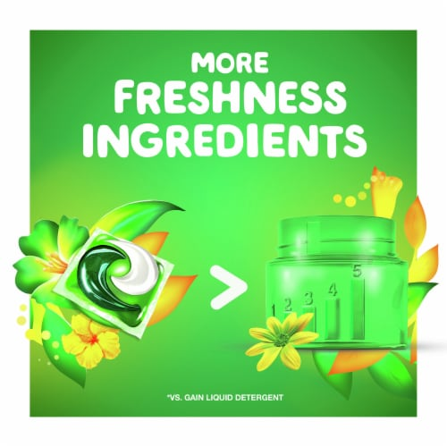 Gain Flings! Original Scent 3-in-1 with Febreze Freshness Laundry Detergent Pacs Perspective: top