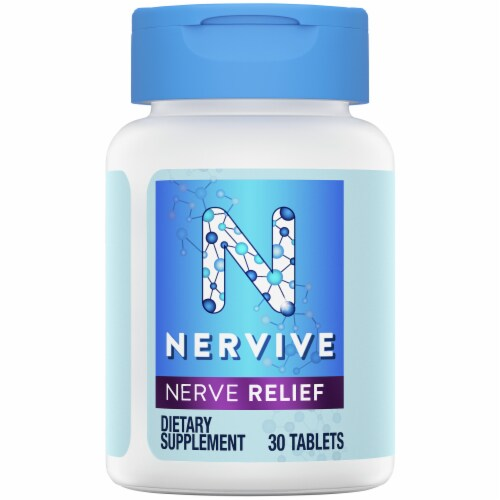 Nervive Nerve Relief Dietary Supplement Tablets Perspective: top