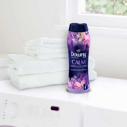 Downy Infusions Calm Lavender & Vanilla Bean In-Wash Scent Booster Beads Perspective: top