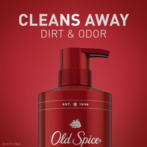 Old Spice Men Red Reserve Body Wash Sea Spray with Kelp Perspective: top