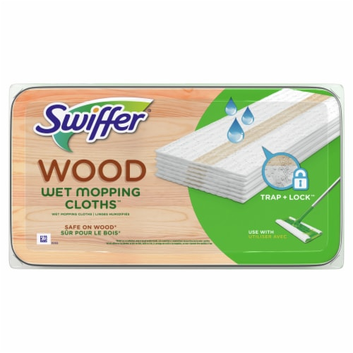 Swiffer Wood Wet Heavy Duty Refill Cloths/Pads Perspective: top
