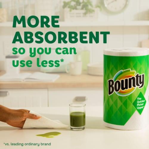 Bounty 2-Ply Triple Paper Towel Rolls Perspective: top