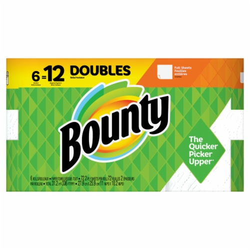 Bounty Doubles White Paper Towels Perspective: top