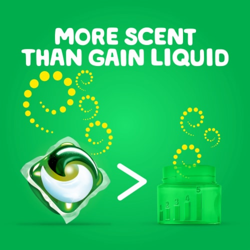 Gain flings! + Aroma Boost Island Fresh Detergent Pacs Perspective: top