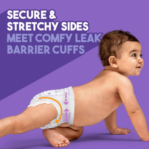 Luvs Triple Leakguards Size 1 Diapers Perspective: top
