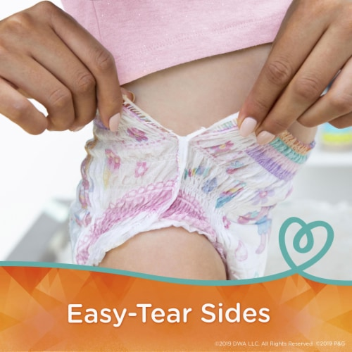 Pampers Easy Ups Size 2T-3T Training Pants Perspective: top