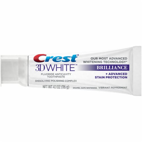 Crest 3D White Brilliance Vibrant Peppermint Toothpaste Value Pack Perspective: top