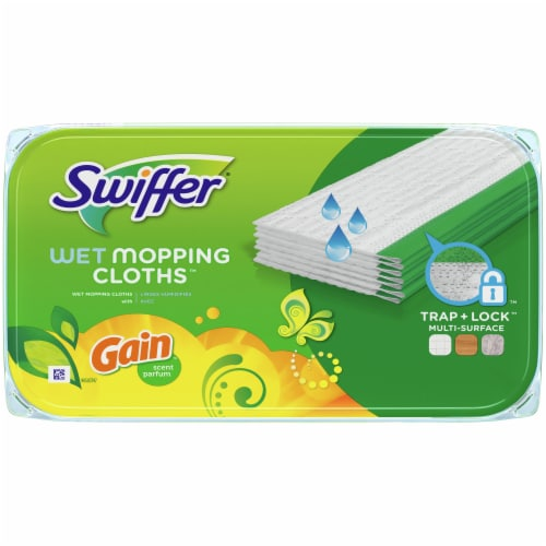Swiffer Sweeper Wet Mopping Cloths with Gain Scent Perspective: top