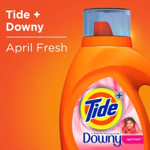 Tide® Plus Downy April Fresh Liquid Laundry Detergent Perspective: top