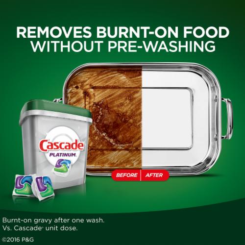 Cascade Platinum ActionPacs Dishwasher Detergent Lemon Scent Perspective: top