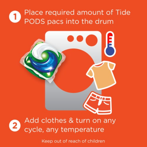 Tide Pods + 4-in-1 Downy April Fresh Detergent Pacs Perspective: top