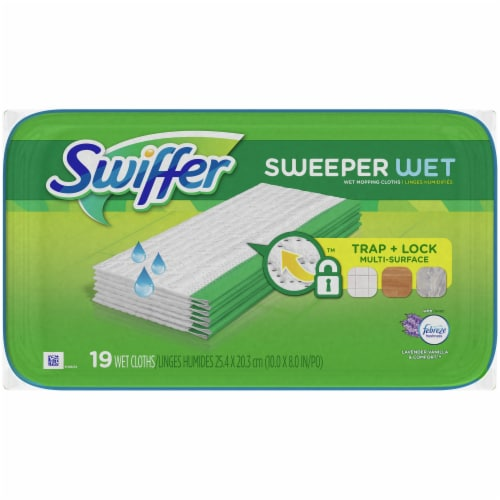 Swiffer Sweeper Lavender Vanilla & Comfort Wet Mopping Cloths Perspective: top