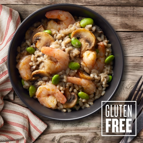 Good Neighbor Seafood Co. Mushroom Risotto Shrimp Bowl Frozen Meal Perspective: top