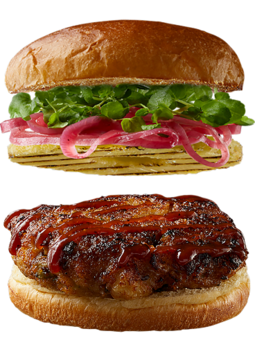 Good Neighbot Seafood Co Sweet & Smoky Shimp Burger Perspective: top