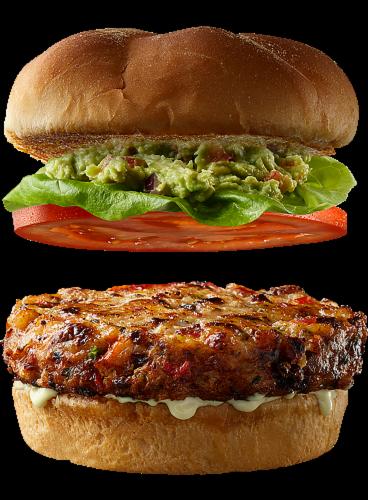 Good Neighbor Seafood Co Southwest Shrimp Burger Perspective: top