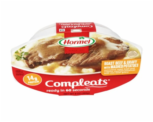 Hormel Compleats Roast Beef and Mashed Potatoes with Gravy Perspective: top