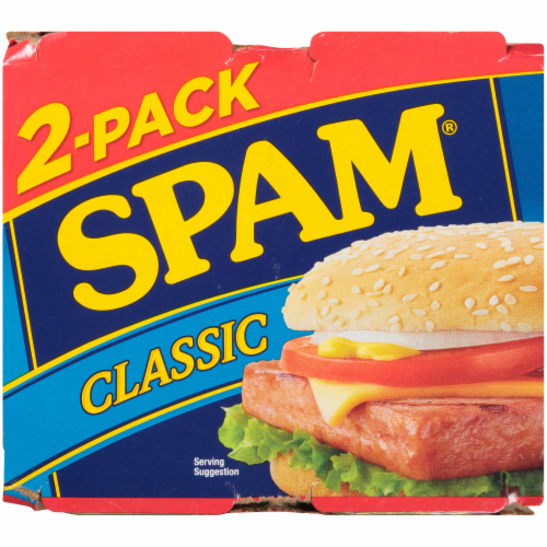 Spam Classic Canned Meat Perspective: top