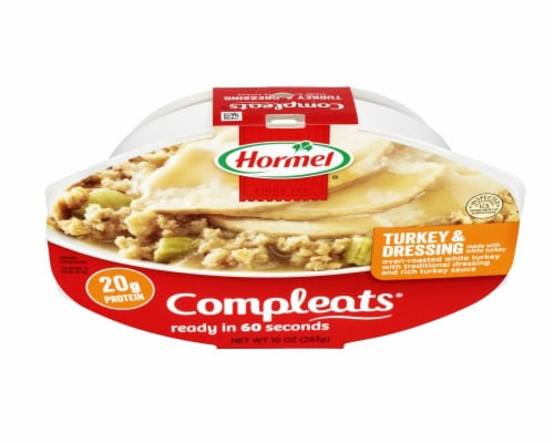 Hormel Compleats Turkey & Dressing Meal Perspective: top