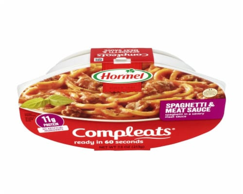 Hormel Compleats Spaghetti & Meat Sauce Perspective: top