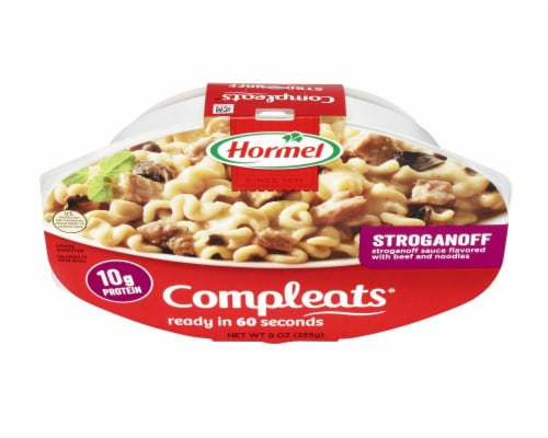 Hormel Compleats Stroganoff with Beef and Noodles Perspective: top