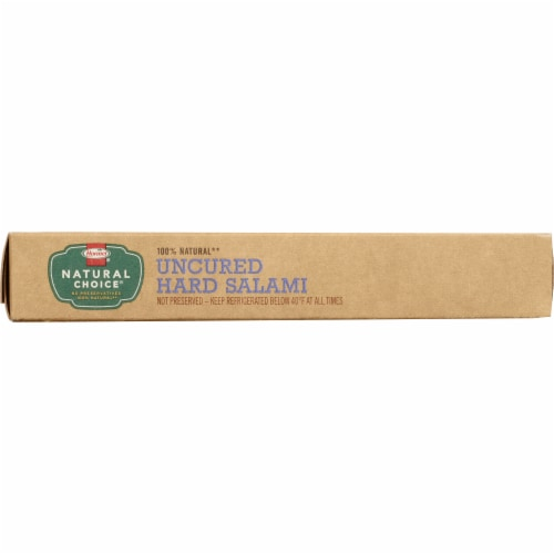 Hormel Natural Choice Uncured Hard Salami Perspective: top