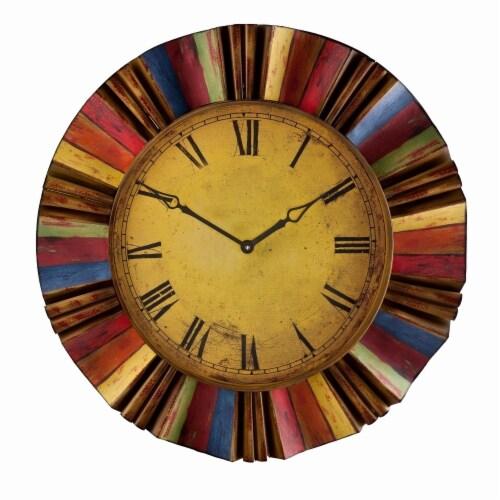 Multicolor Wall Clock Perspective: top