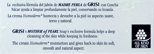 Grisi Natural Mother of Pearl With Concha Nacar Soap Perspective: top