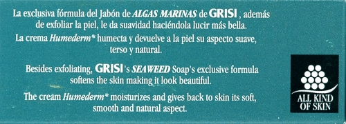 Grisi Seaweed Exfoliating Bar Soap Perspective: top