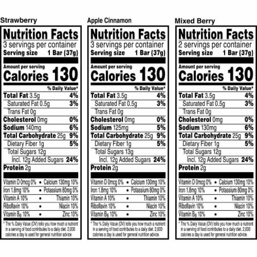 Kellogg's Nutri-Grain Soft Baked Breakfast Bars Variety Pack Perspective: top