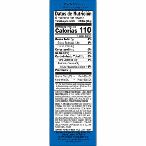 Kellogg's Pop-Tarts Crisps Frosted Strawberrylicious Perspective: top