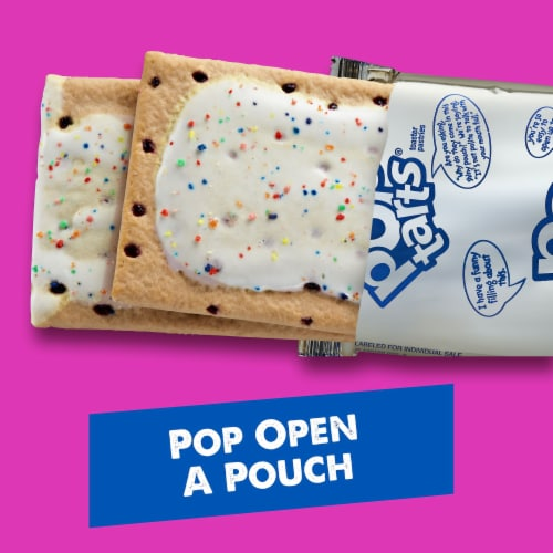 Kellogg's Pop-Tarts Breakfast Frosted Blueberry Toaster Pastries Perspective: top