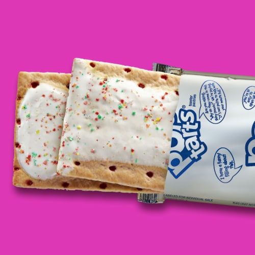 Pop-Tarts Frosted Strawberry Toaster Pastries Perspective: top