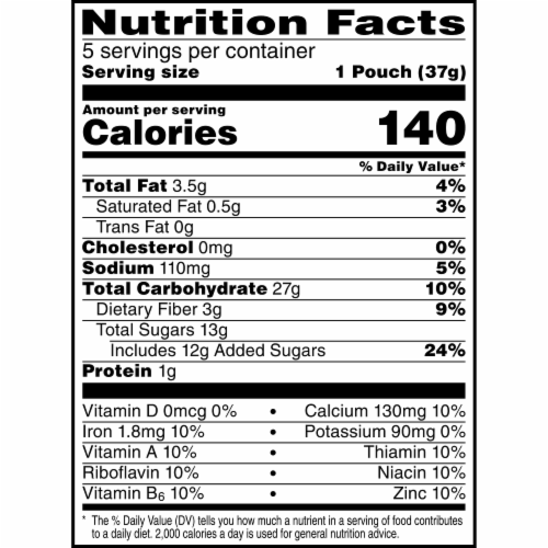 Nutri-Grain Kids Awesome Apple Soft Baked Mini Bars Perspective: top