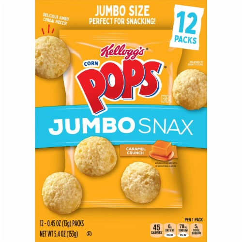 Corn Pops Jumbo Snax Snacking Cereal Perspective: top
