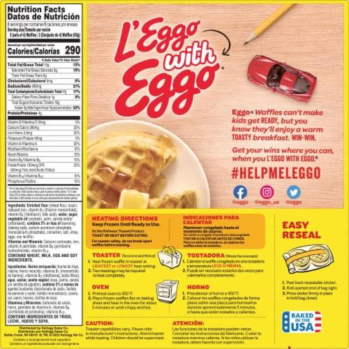 Kellogg's Eggo Minis Frozen Breakfast Waffles Cinnamon Toast Family Pack Perspective: top
